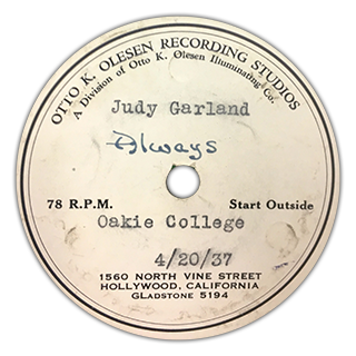 """Always"" - Judy Garland"