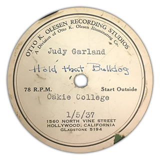 """Hold That Bulldog"" - Judy Garland"