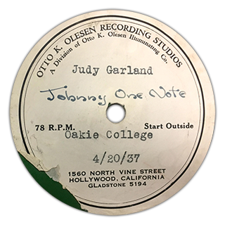 """Johnny One Note"" - Judy Garland"