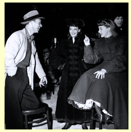 On the set with George Folsey, Lucille Bremer, Judy Garland & Marjorie Main
