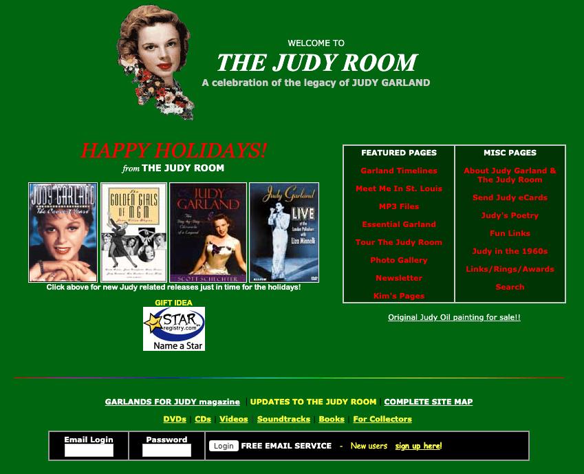 2002 Judy Room Holiday Homepage