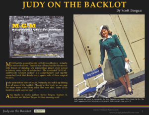 Judy Garland on the MGM Backlot