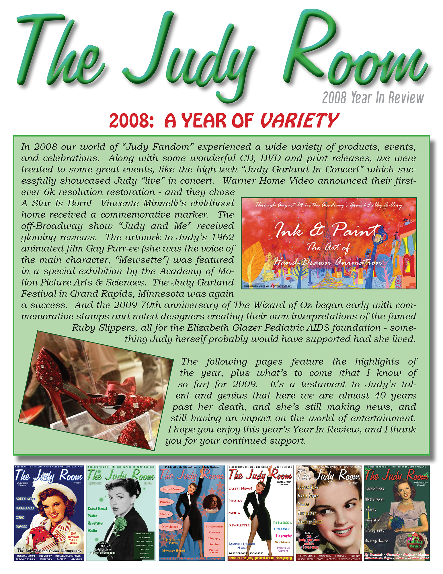 The Judy Room's 2008 Year in Review