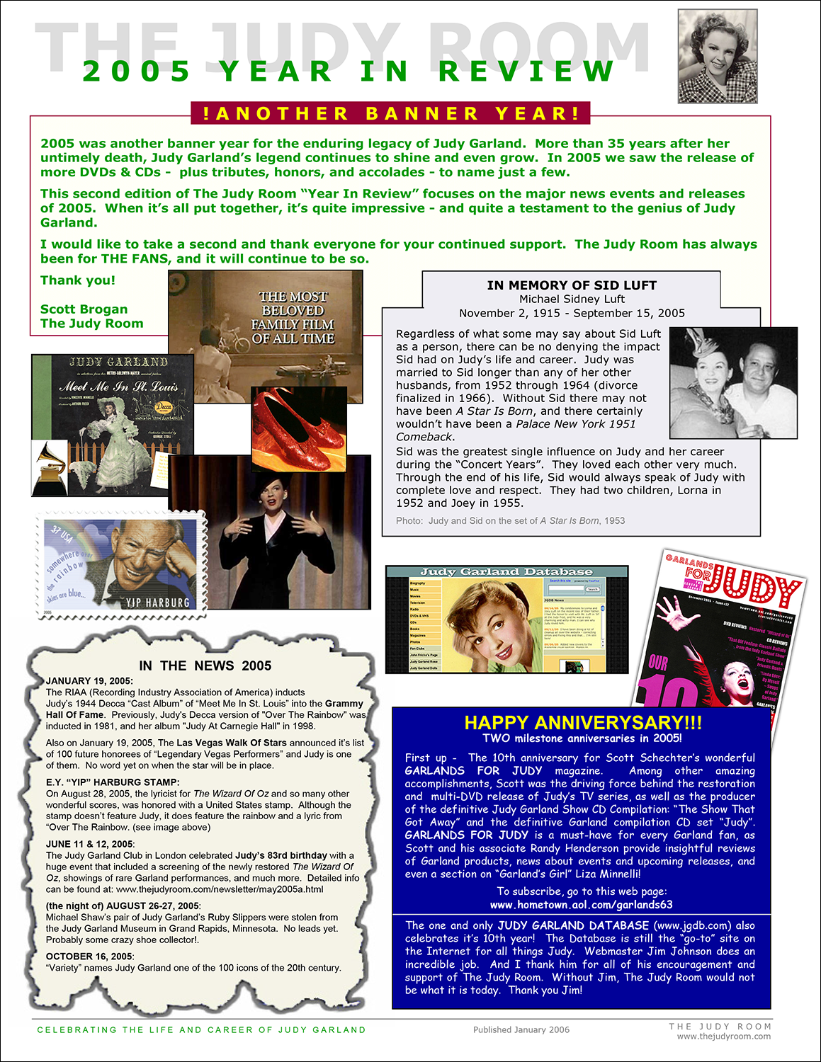The Judy Room's 2005 Year in Review