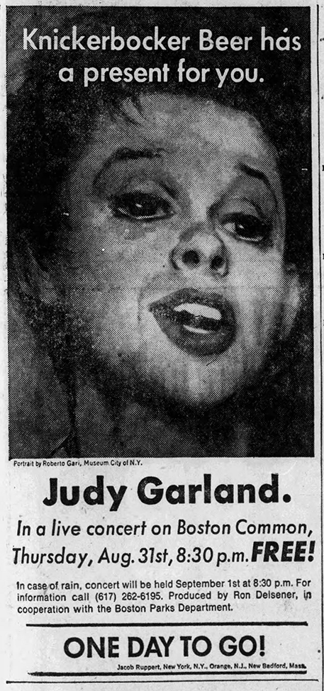 Judy Garland at the Boston Common