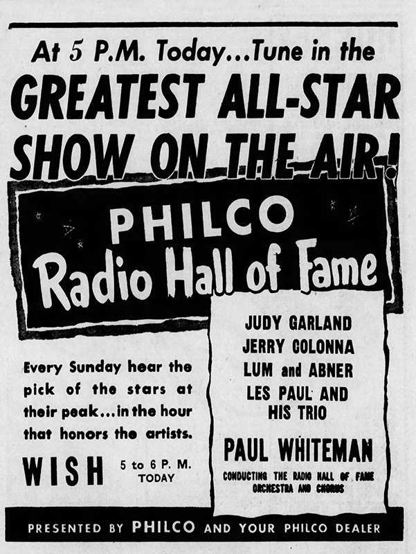 Judy Garland - Philco Radio Hall of Fame