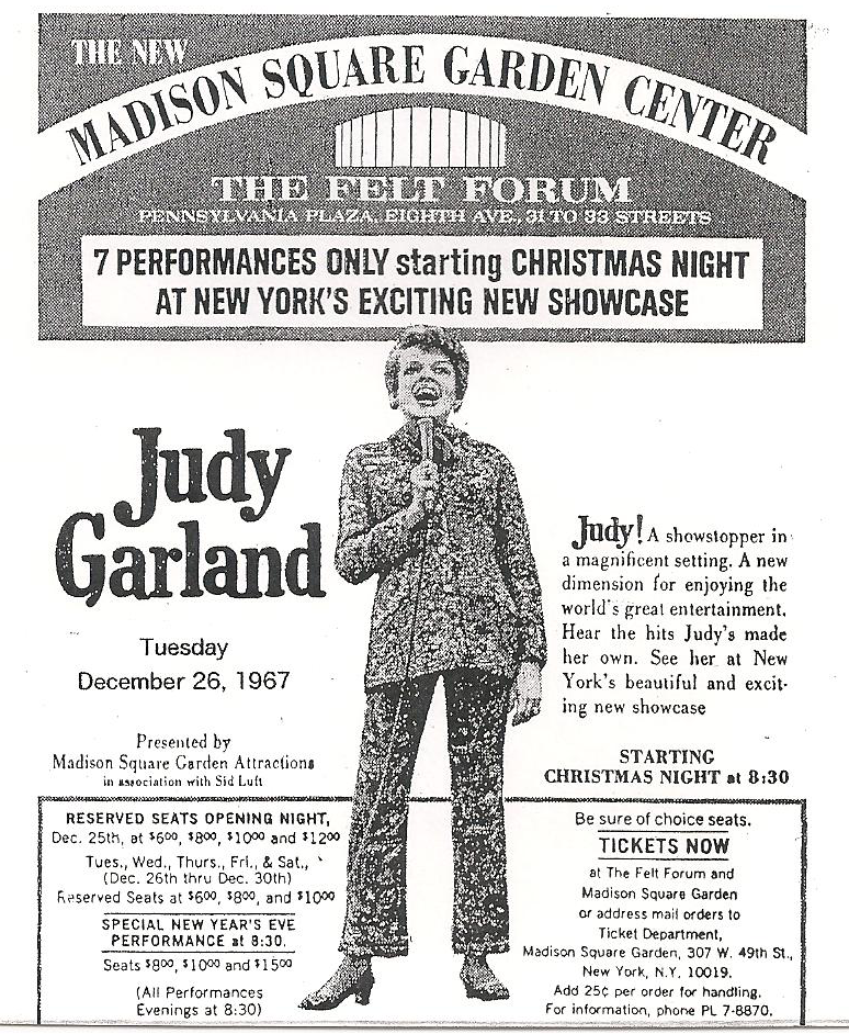 Judy Garland at the Felt Forum