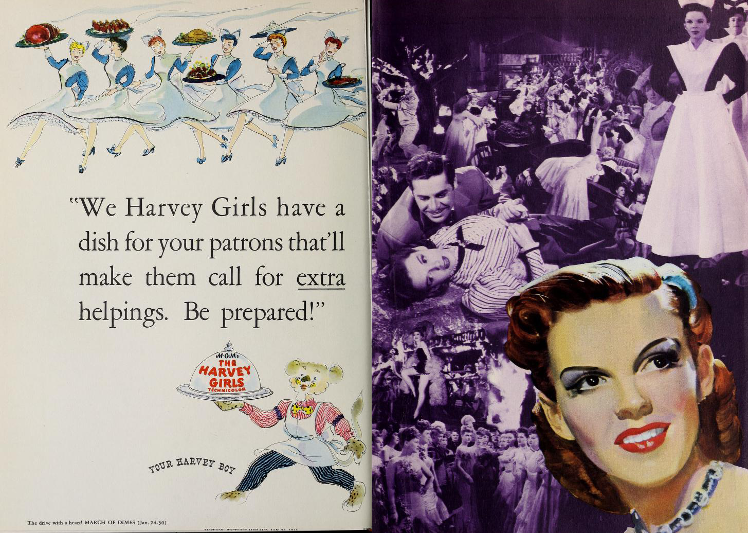 "Judy Garland in ""The Harvey Girls"""