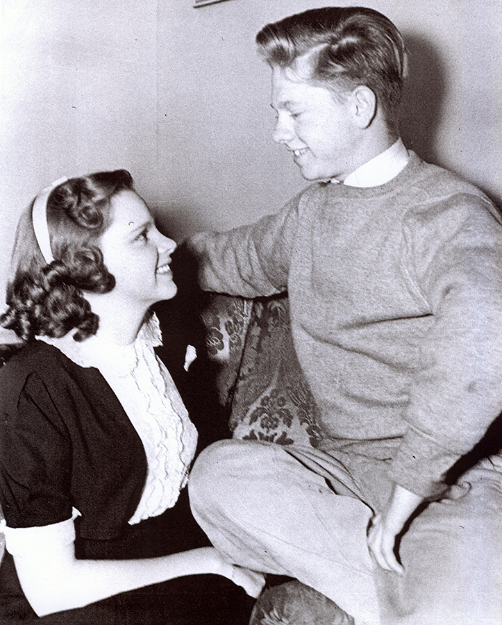 "Judy Garland and Mickey Rooney in ""Love Finds Andy Hardy"""