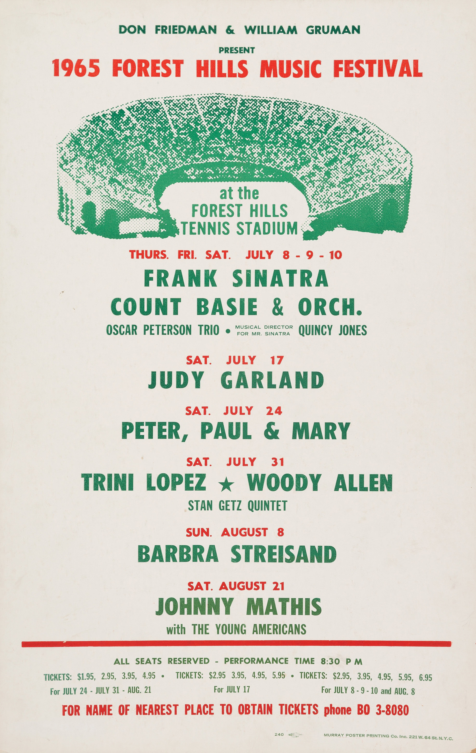 Judy Garland at Forest Hills STadium