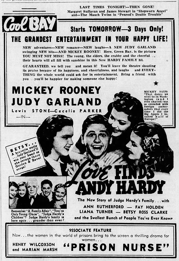 Love Finds Andy Hardy starring Judy Garland and Mickey Rooney