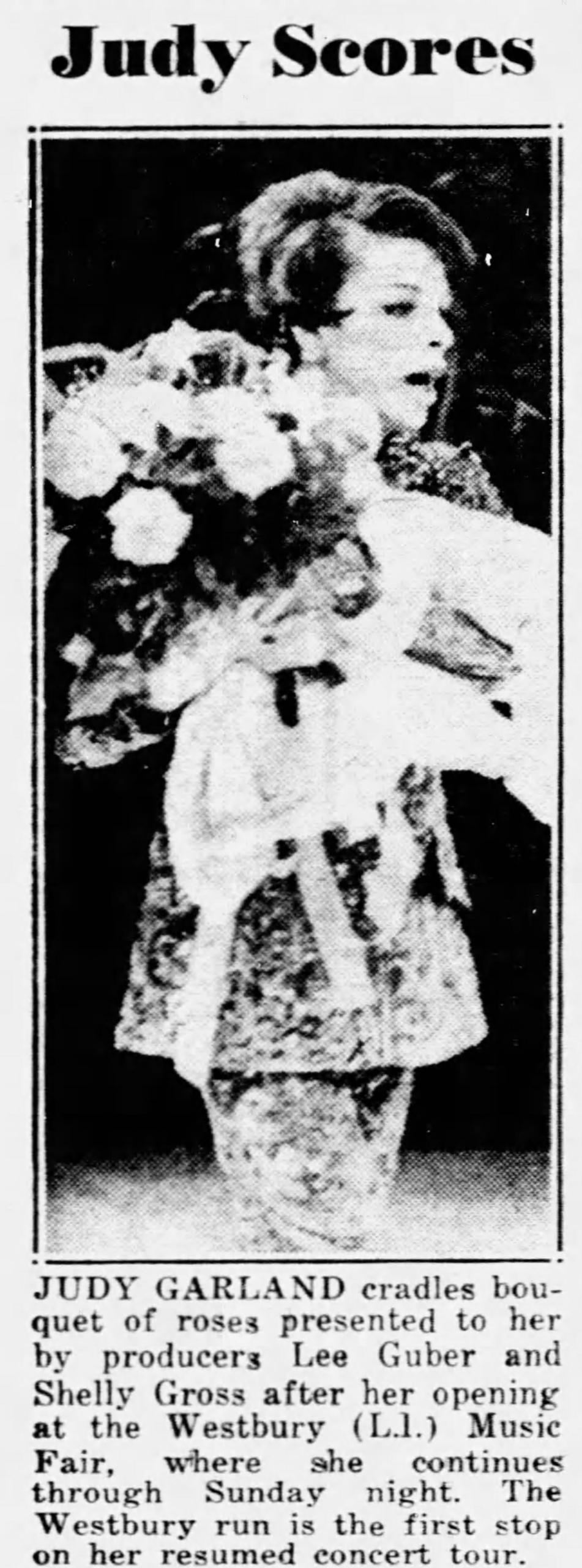 Judy Garland at Westbury