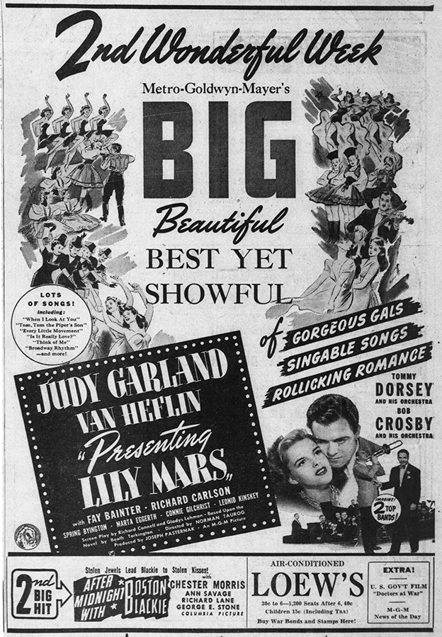 Judy Garland in Presenting Lily Mars