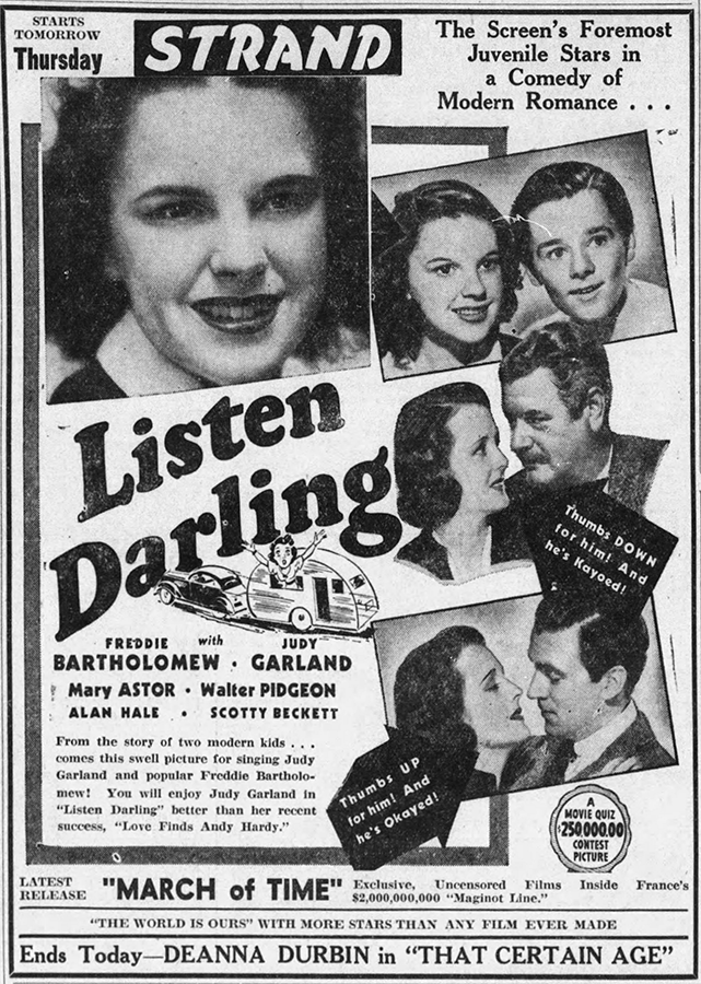 Listen Darling starring Judy Garland
