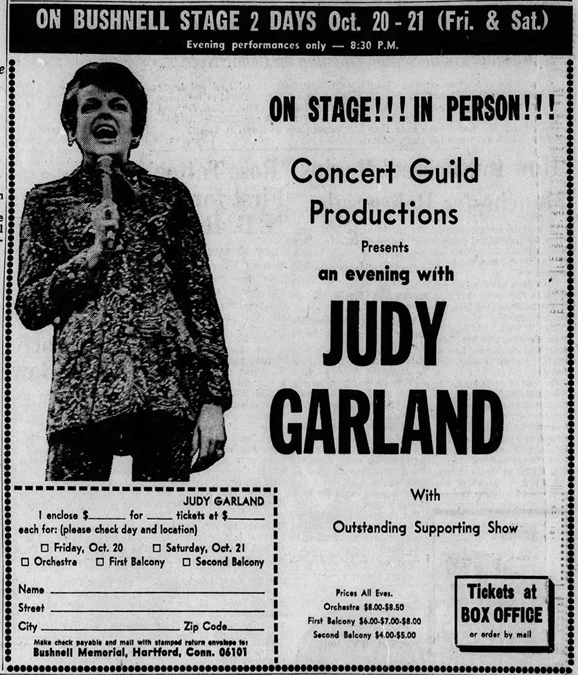 Judy Garland at the Bushnell