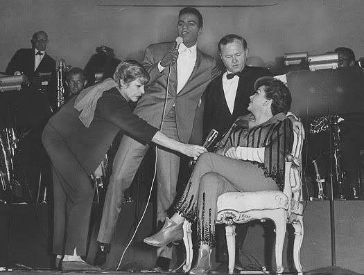 Judy Garland, Martha Raye, Johnny Mathis, and Mickey Rooney