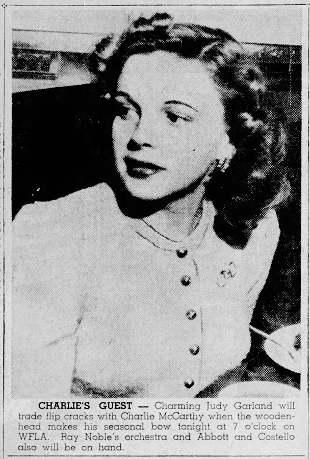 Judy Garland on the Radio September 7, 1941
