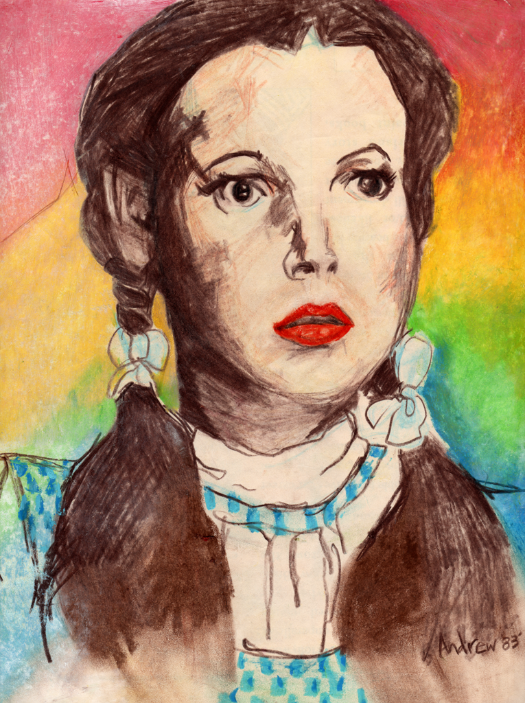 Judy Garland charcoal by Andy England