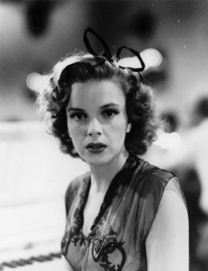 """Judy Garland on the set of """"Girl Crazy"""""""