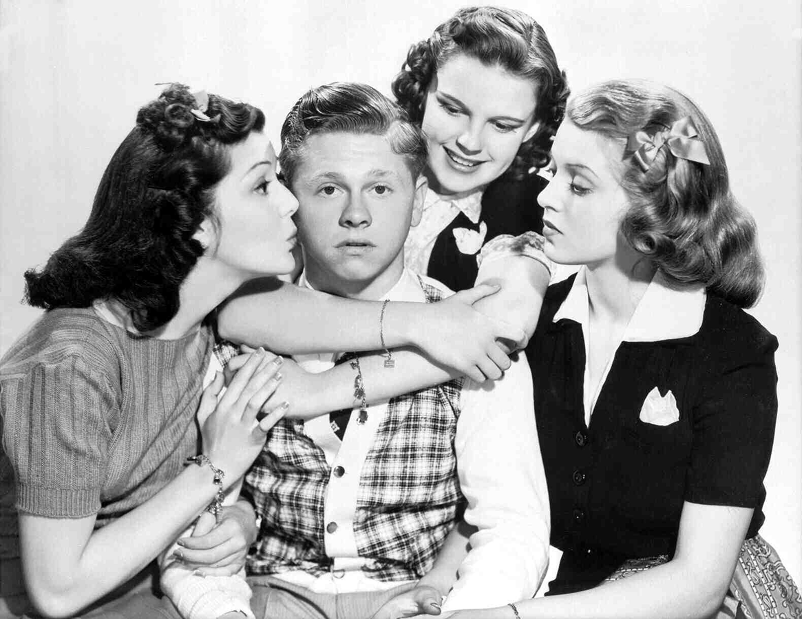 Ann Rutherford, Mickey Rooney, Judy Garland, Lana Turner