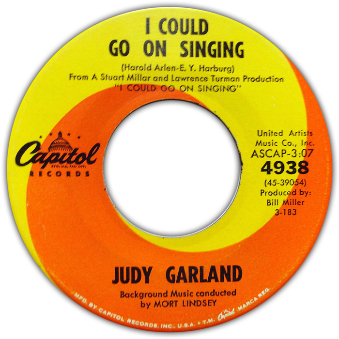 """I Could Go On Singing"" 45"