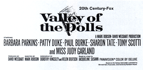 """Early newspaper ad for """"Valley of the Dolls"""""""