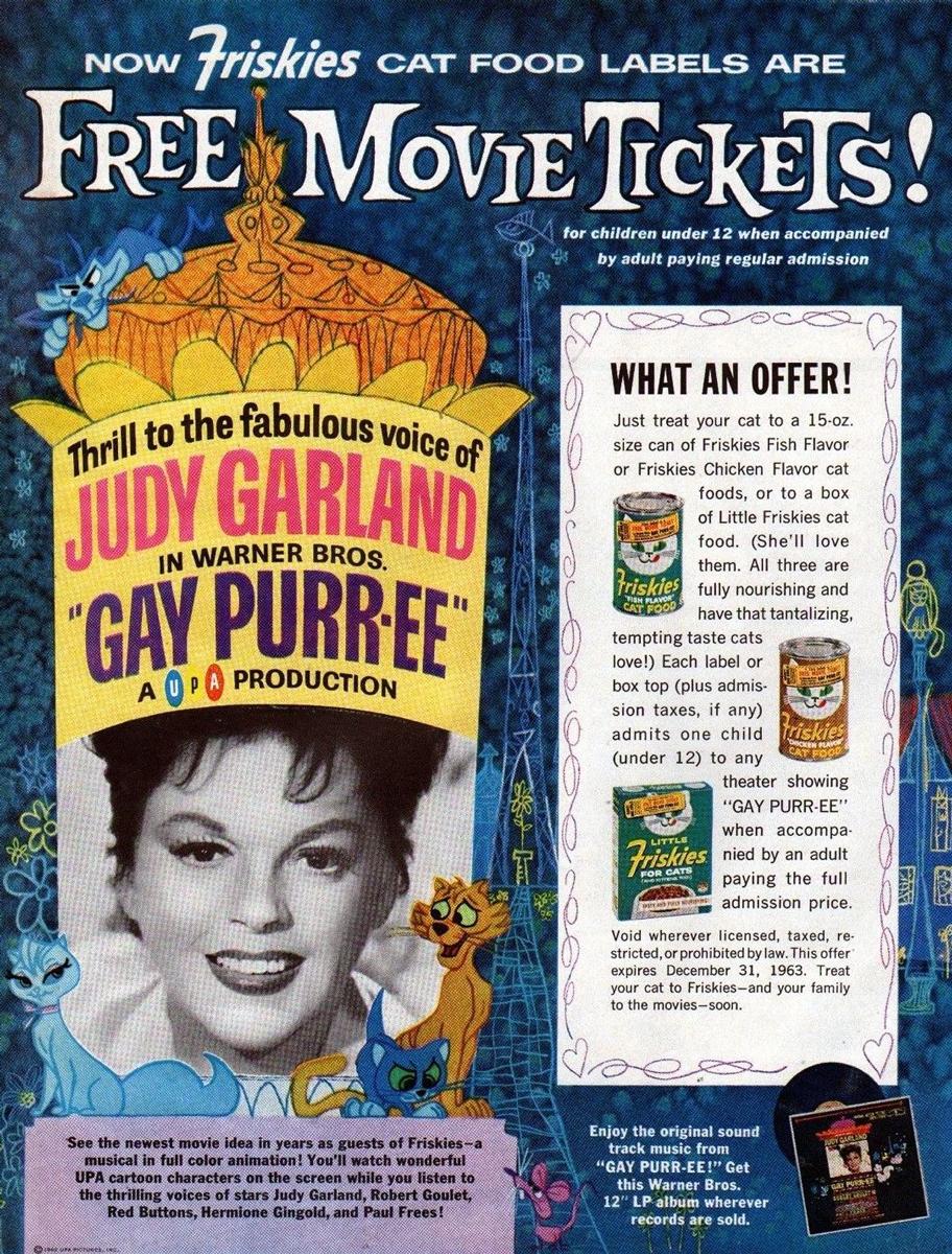 Gay Purr-ee Friskies Ad