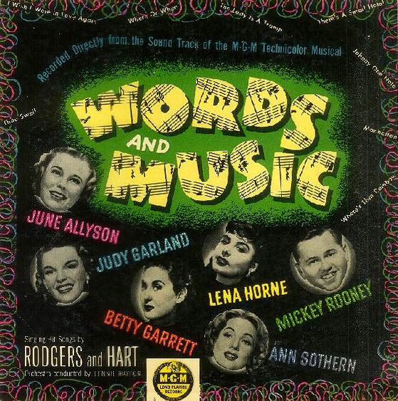 Words And Music 10 inch MGM Records soundtrack LP