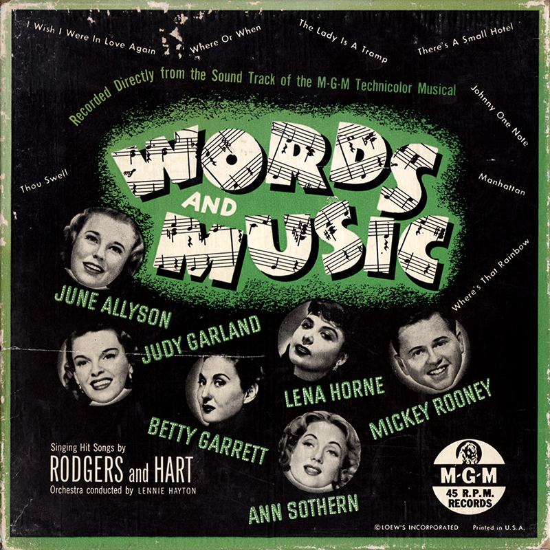 Words And Music 45rpm Boxed Set soundtrack
