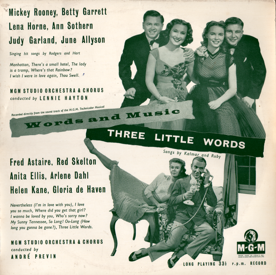 "Words And Music/Three Little Words ""two-fer"" soundtrack records"