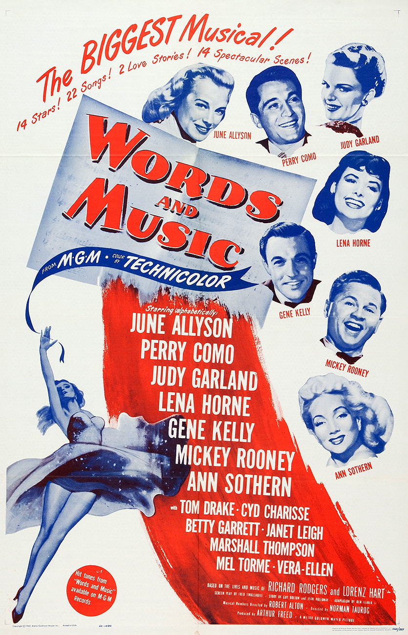 Words And Music 1962 rerelease poster