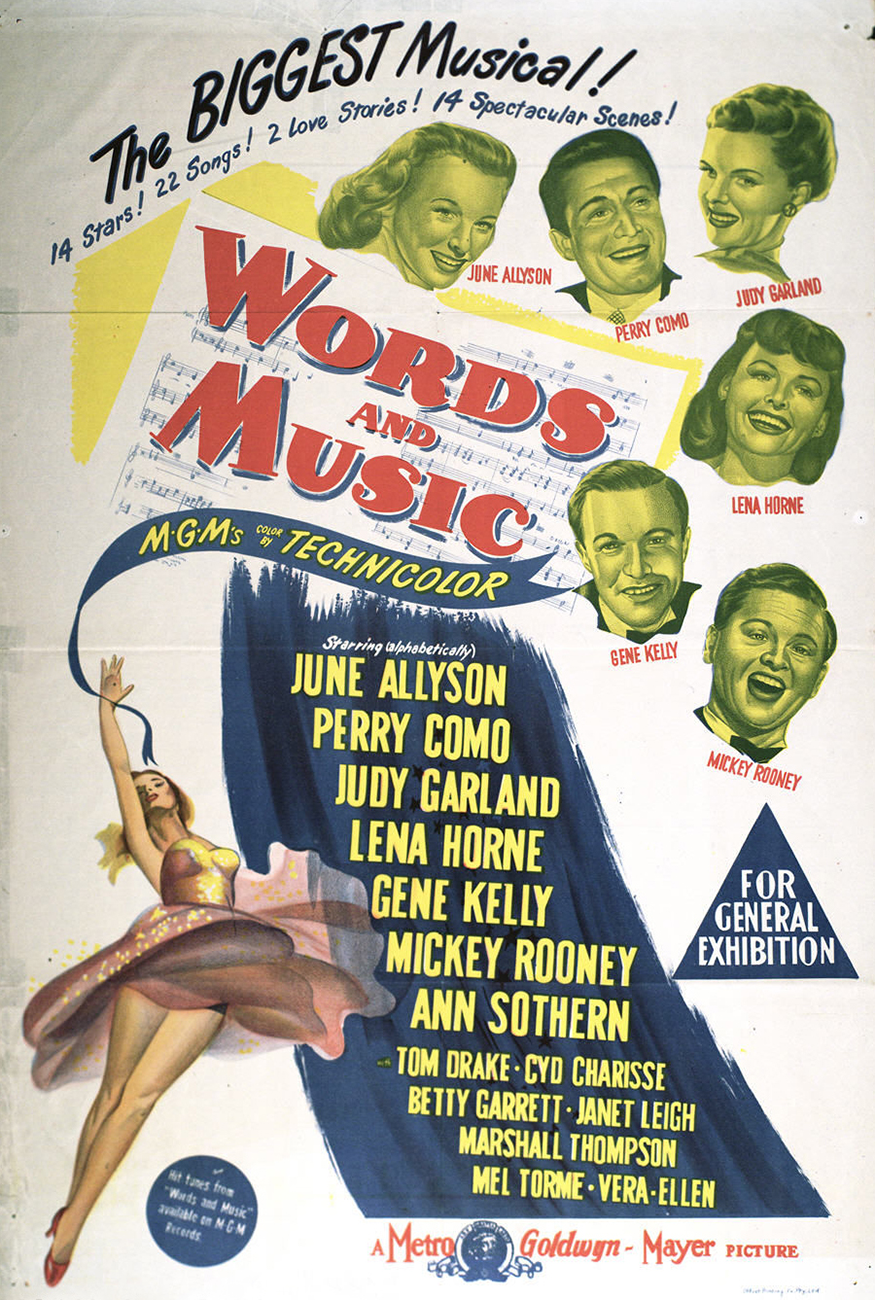 Words And Music One Sheet Australian