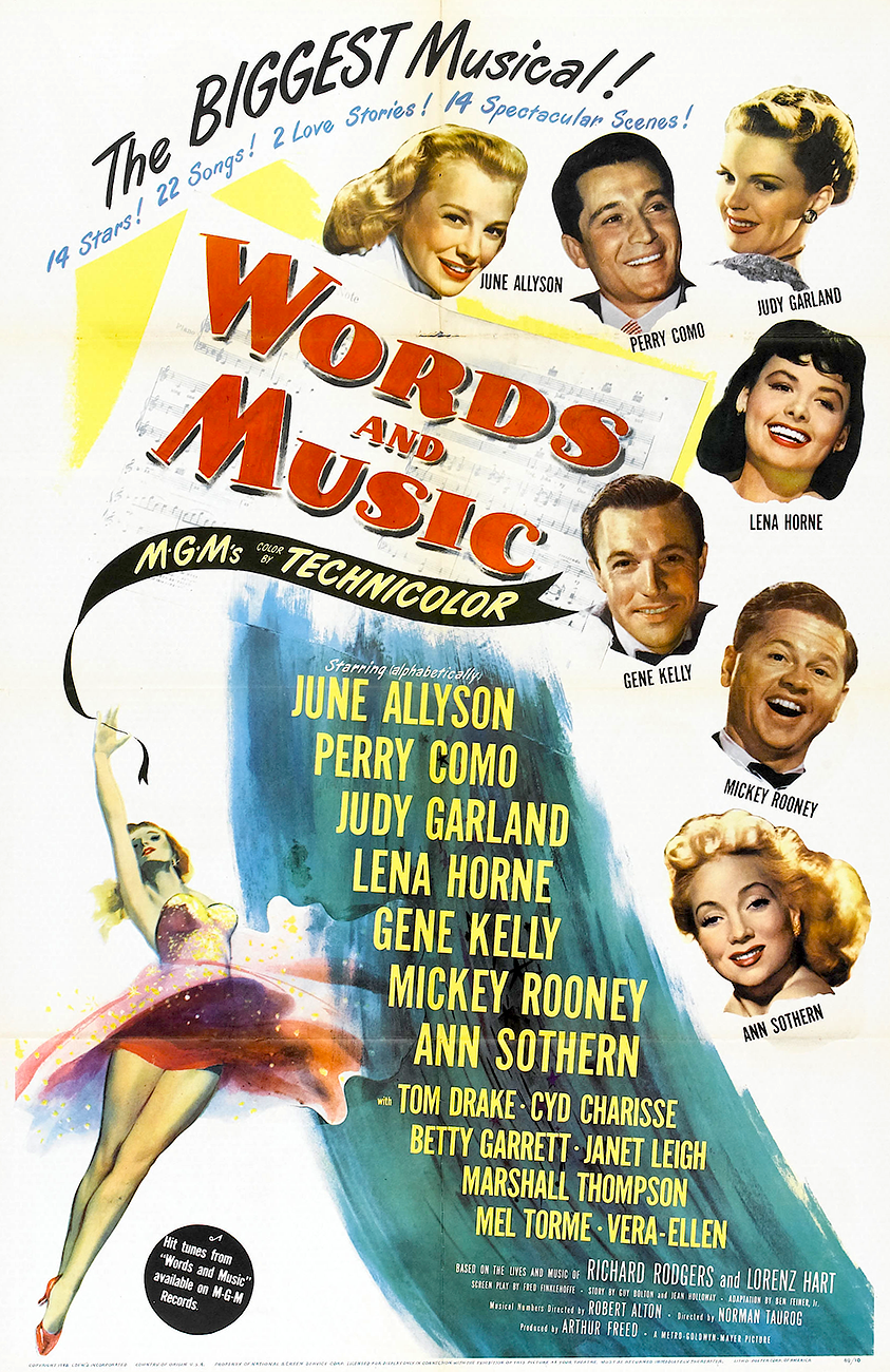 Words And Music one sheet poster