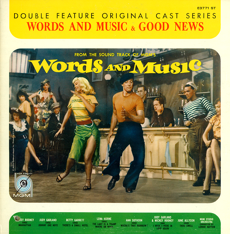 Words And Music/Good News Double Feature soundtrack LP
