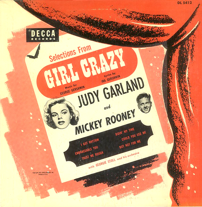 """Decca Records cast album of songs from """"Girl Crazy"""""""