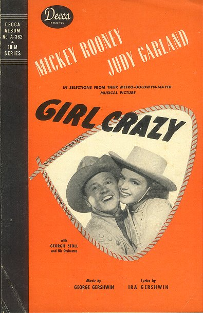 """Insert to the Decca Records cast album of songs from """"Girl Crazy"""""""