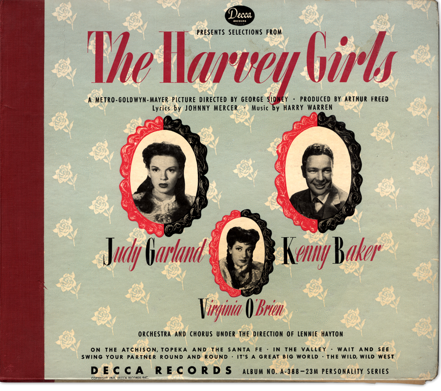 The Harvey Girls Decca 78 album