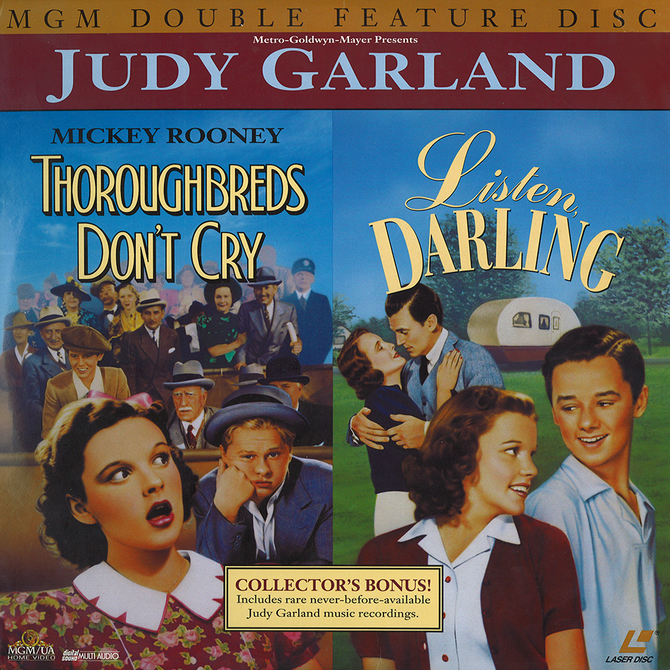 Thoroughbreds Don't Cry/Listen Darling 1994 laser disc set