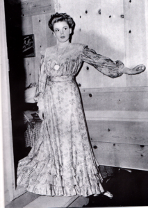 "Judy Garland in costume for the deleted ""The Convict's Return"" sketch in ""Babes on Broadway"""