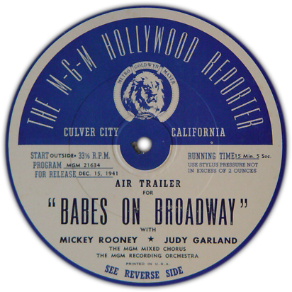 """Babes on Broadway"" air trailer side 1"