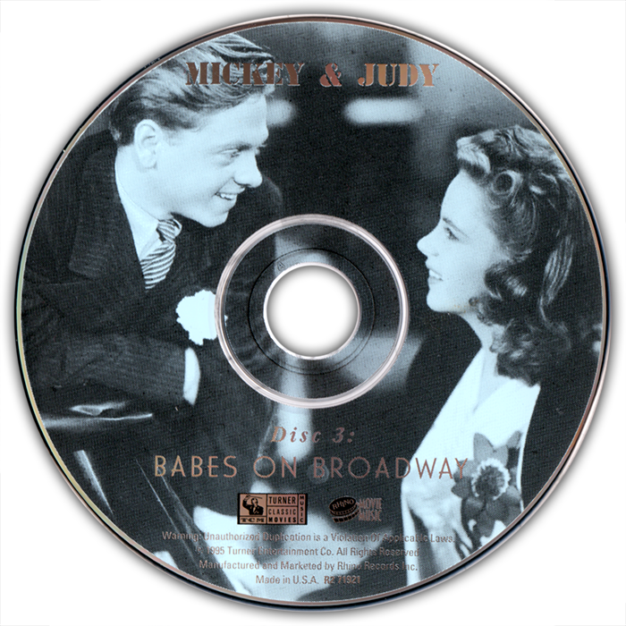 """Babes on Broadway"" Rhino CD artwork"