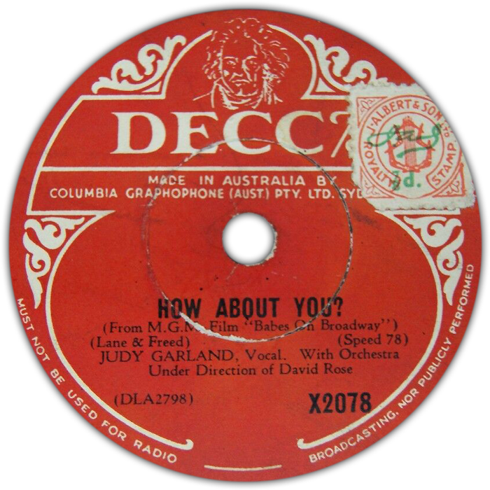 "Decca Australia ""How About You?"""