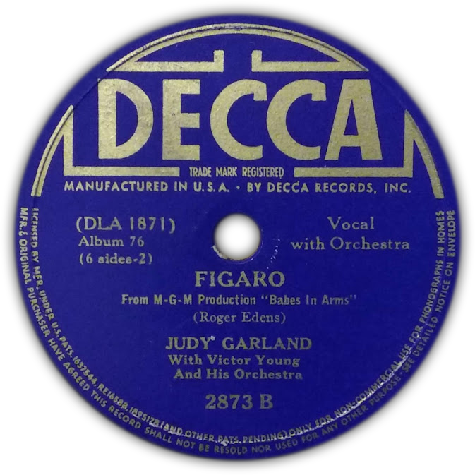 """Figaro"" by Judy Garland Decca Records"