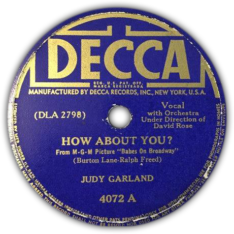 "Decca Records ""How About You?"""