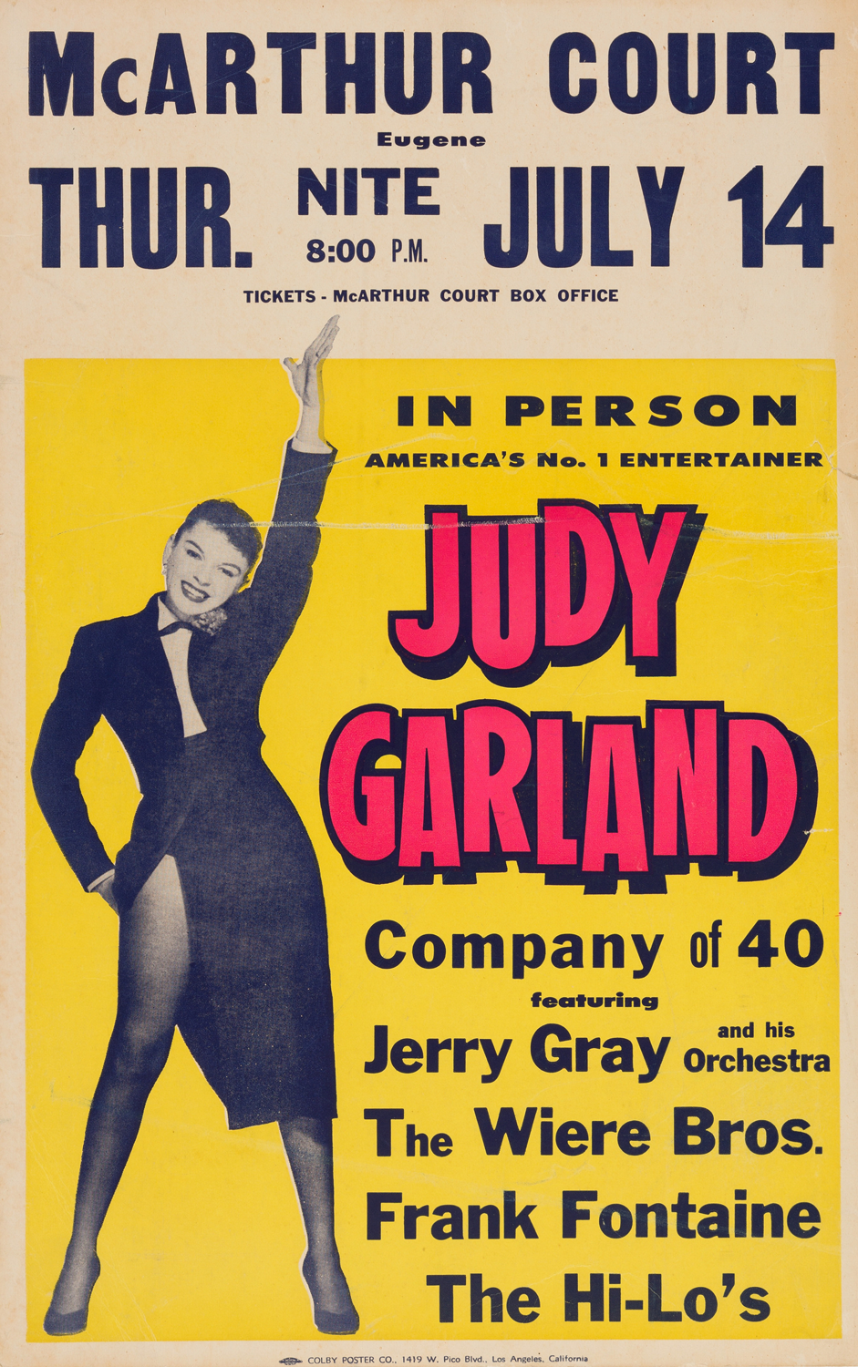 Judy Garland at McArthur Court