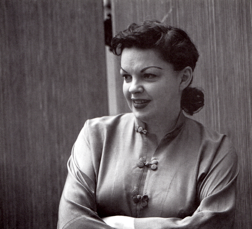 "Judy Garland recording ""Alone"" in 1957"