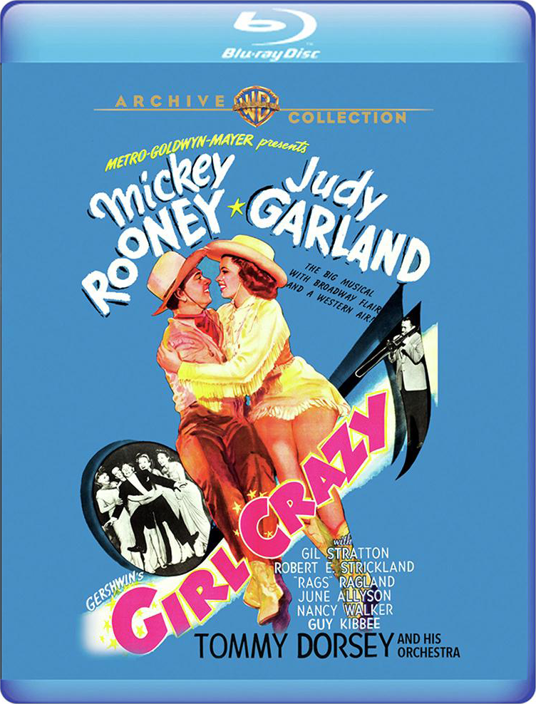 """Girl Crazy"" starring Judy Garland and Mickey Rooney on Blu-ray from the Warner Archive"