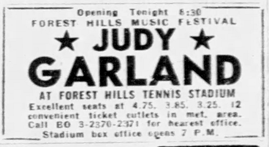 Judy Garland at Forest Hills 1961