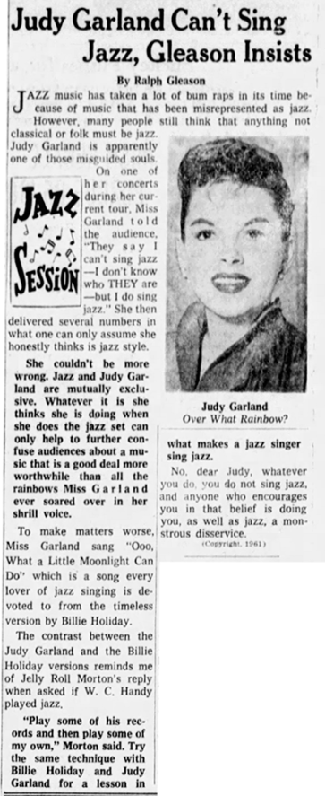 Judy Garland article 1961