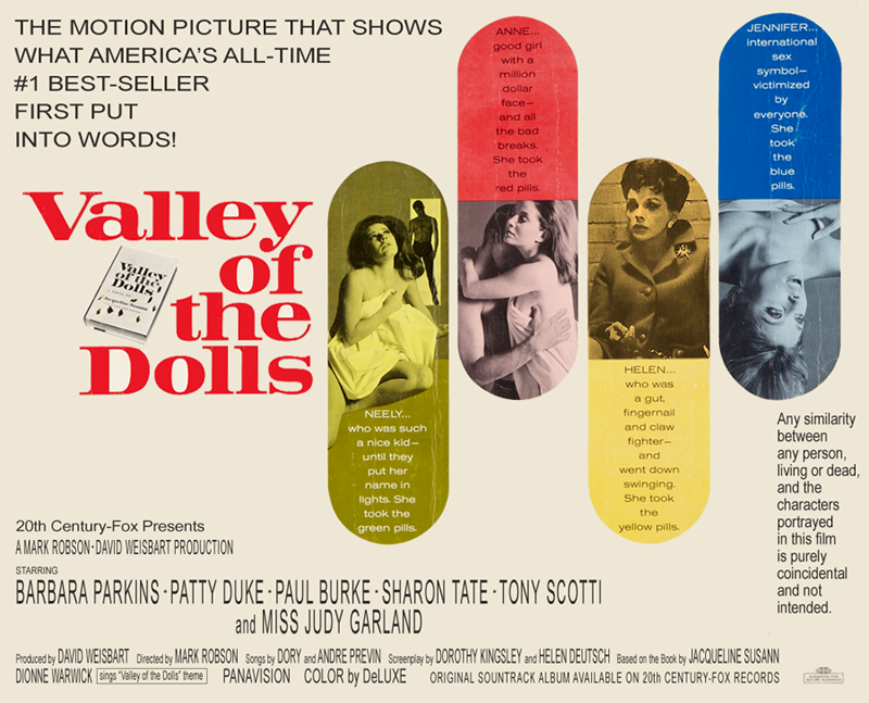 """Valley of the Dolls"" fake poster featuring Judy Garland"